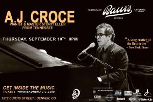 AJ Croce flyer copy
