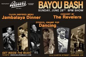 Bayou Bash flyer
